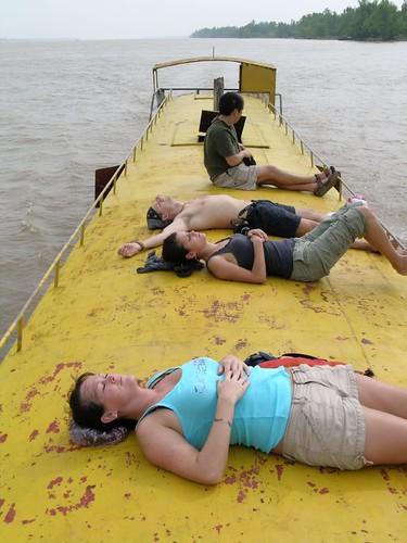 Sunning in Cambodia