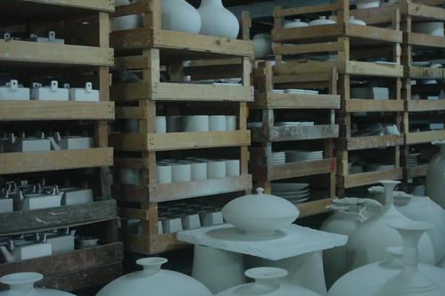 滿倉庫各種造型的素燒1-5