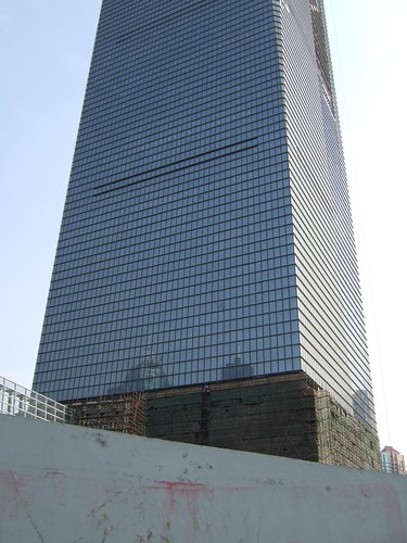 Construction site of the World Financial Center