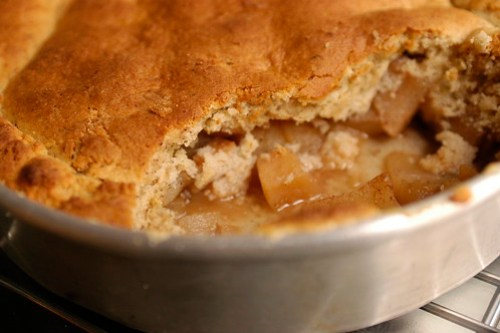 apple-pear cobbler