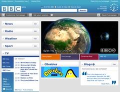 New BBC Homepage
