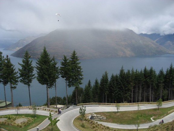 Go Kart racing above Queenstown