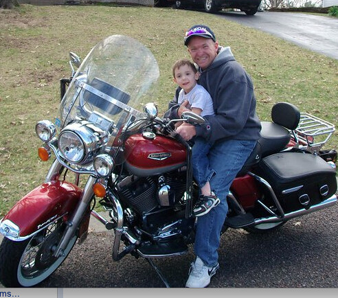 Bryan Wucher and his son