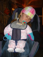 Baby Vanessa in car seat