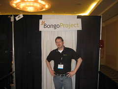 Stu hosting the Bongo Project booth