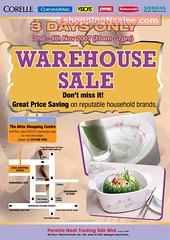 20071102 Corelle Corning Ware Warehouse Sale