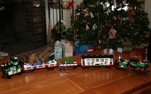 The Finished Lego Train