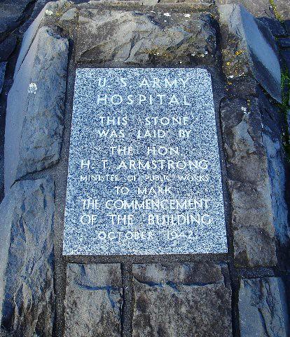 Foundation stone for U.S. hospital