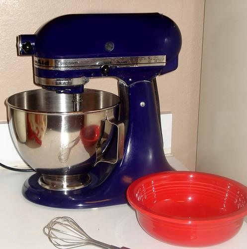blue kitchen aid