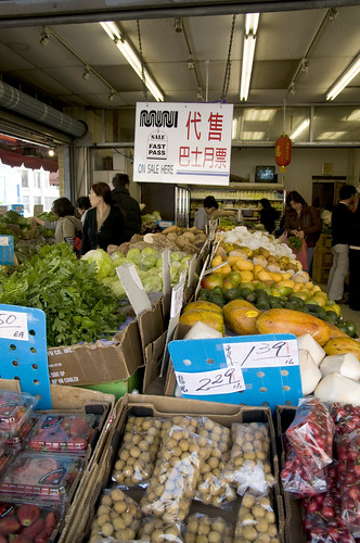 Gemüse und Gewürze in China Town