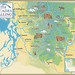 Map of the North Cascades region in Washington state
