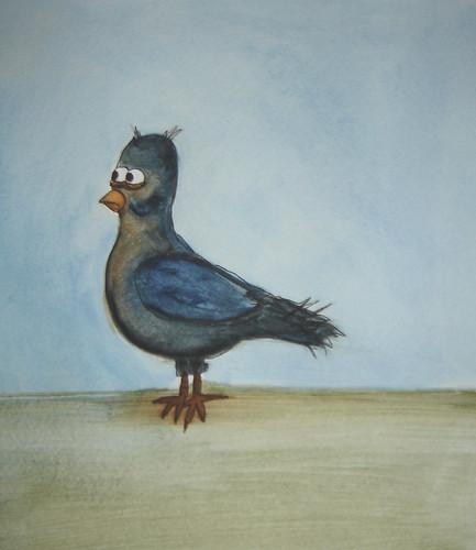 PigeonWatercolor