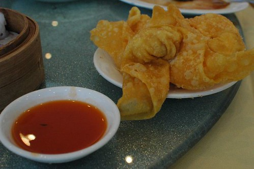 Deep-fried prawn wontons