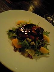 フォアグラとアップルマンゴーのサラダ@松山バーガンディー