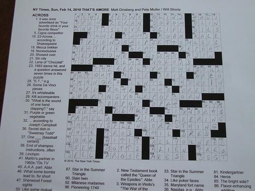 NYT Sunday Puzzle - 2/14/10