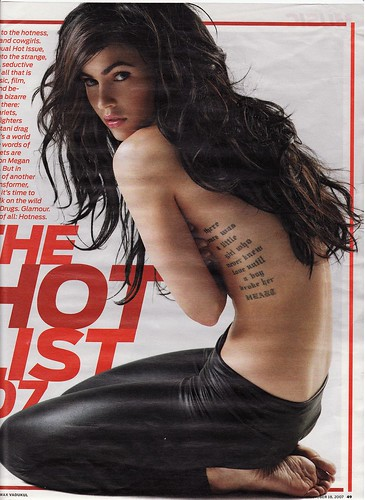 Celebrity Megan Fox tattoos
