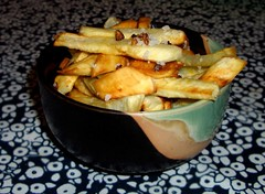 Camote Fries With Garlic & Sea Salt