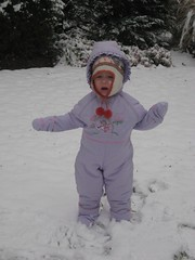 Emily and her first snow