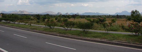 A panaromic view on the road from Bangalore to Chennai