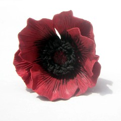 Red Poppy Hairpin 002