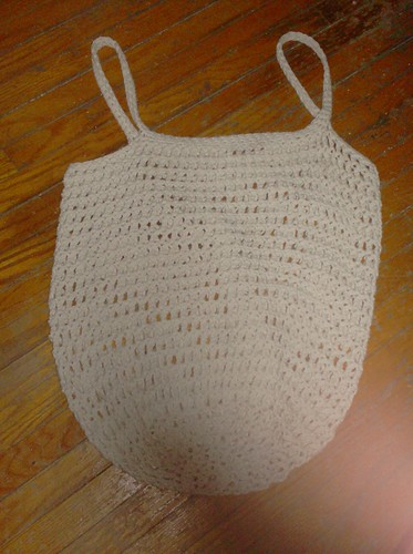 Crocheted Tote Bag - Cotton