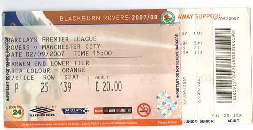 Blackburn 1-1 City