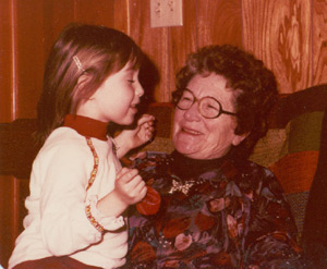 Me and Grammy.  I'm about four here.