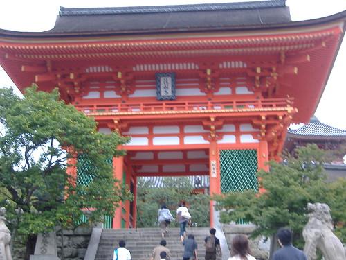Deva gate to Kiyomizu-dera temple