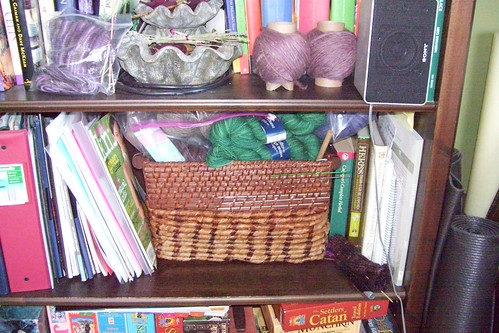 stash on bookcase