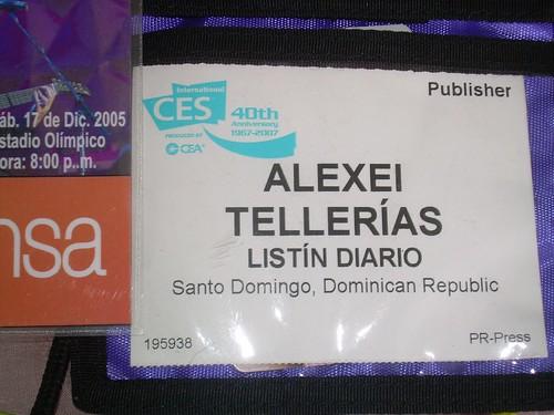 credencial del CES 2007 en Las Vegas