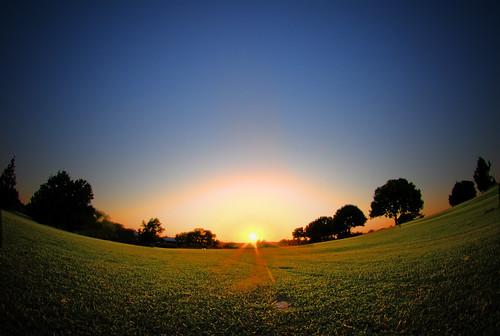 Sunset on Golf Course