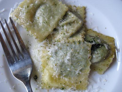 nettle ravioli