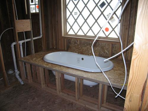 Platform for master bath tub