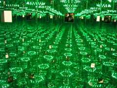 The Infinity Mirrored Room - Love Forever, at the Yayoi Kusama exhibition, Victoria Miro Gallery, London, February 2008.