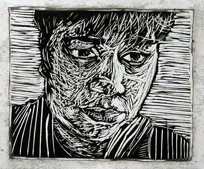 Linocut print 3
