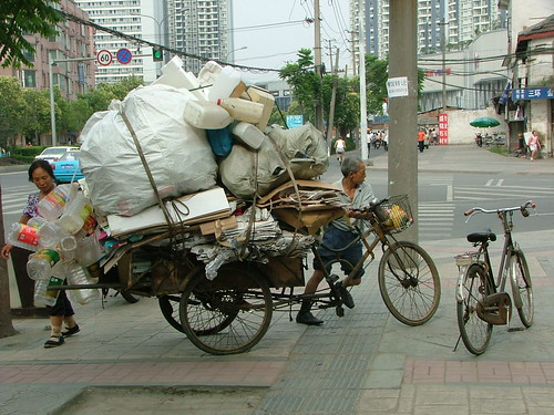 Bike Trash hauler