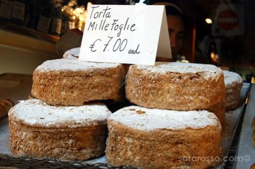 Torta Millefoglie in Bergamo Alta, Italy