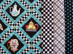 Mary Engelbreit Fabrics-tea, teal and black
