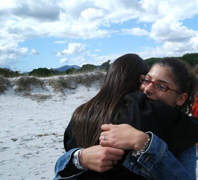 l'abbraccio in Sardegna