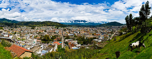 Panoramablick über Otavalo