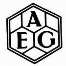 Peter Behrens, imagen de identidad para la AEG (Allgemeine Elektricitaets Gesellschaft), 1908.