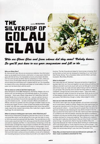Golau Glau interview, Shook magazine, Vol One Winter No 7