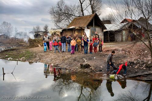 Roma settlement in Dobruska vas