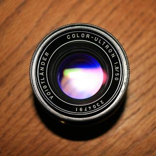 Voigtländer Color-Ultron 50mm f/1.8 (top)