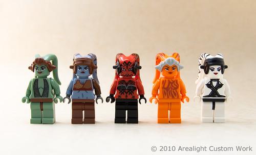 Custom LEGO Twi'lek minifigs