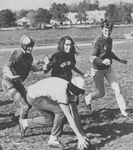 The Annual Powder Puff Game at Dowling College, 1968