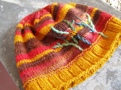 contrasting trees hat