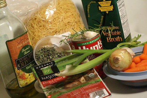 Ingredients for my challenge soup