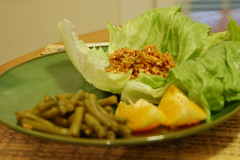 My plating of home Lettuce Wraps