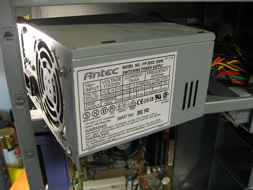 built a power supply\u2026 wh7dapower supply out of an old antec computer case i then converted it to a power supply for my yaesu ft 7800r ham radio, to use as a base station in my